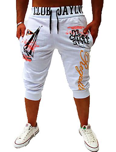economico Abbigliamento uomo-Per uomo Essenziale Chino Pantaloni della tuta Pantaloni Tinta unita A cordoncino Bianco Nero Blu Grigio