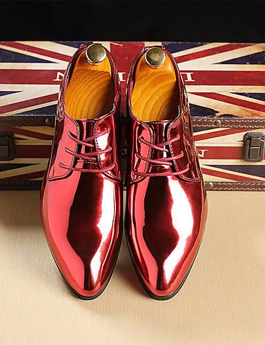 povoljno Muške oksfordice-Muškarci Formalne cipele Lakirana koža Proljeće ljeto / Jesen zima Posao / Uglađeni Oksfordice Zlato / Crvena / Plava / Zabava i večer