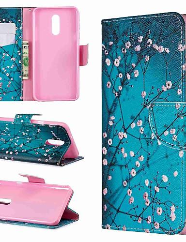 מגן עבור LG LG V30 / LG V20 / LG Stylo 4 ארנק / עמיד בזעזועים / עם מעמד כיסוי מלא פרח קשיח עור PU / LG G6