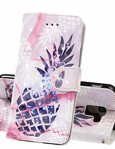 מגן עבור Samsung Galaxy J6 (2018) / J4 (2018) / Galaxy J4 Plus (2018) ארנק / מחזיק כרטיסים / עמיד בזעזועים כיסוי מלא אוכל קשיח עור PU