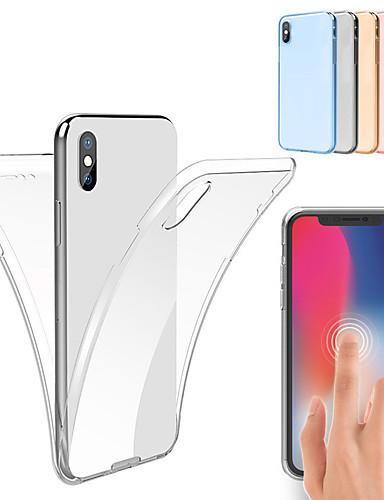 המקרה עבור iPhone xs max xs 360 גוף מלא tpu מקרה עבור iPhone xr 8 פלוס 8 7 פלוס 7 6 ועוד 6