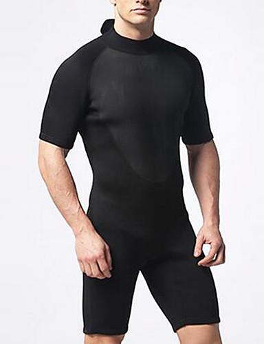 Herr Kort våtdräkt 2mm Neoprene Dykardräkter Kortärmad Rygg-dragkedja - Dykning Surfing