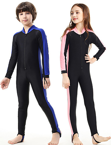 478991fb8b SBART Boys' Girls' Rash Guard Dive Skin Suit 1mm Diving Suit SPF50 UV Sun  Protection Quick Dry Full Body Front Zip - Swimming Diving Patchwork Spring  Summer ...