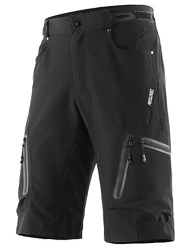 povoljno Odjeća za vožnju biciklom-Arsuxeo Muškarci Kratke hlače za MTB Bicikl Kratke hlače Vrećaste hlače Kratke hlače za MTB Prozračnost Quick dry Vodootporni patent Sportski Jedna barva Poliester Spandex Tamno siva / Navy Plava