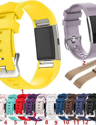 צפו בנד ל Fitbit Charge 2 פיטביט רצועת ספורט סיליקוןריצה רצועת יד לספורט