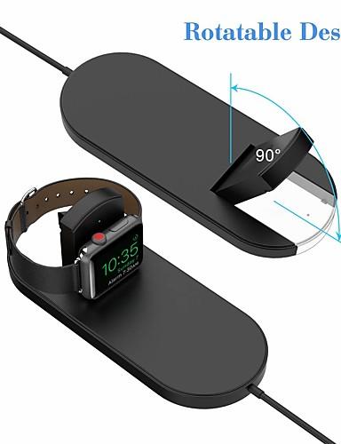 2 ב 1 צ'י מהיר אלחוטי טעינה בלוק עומד iwatch מטען עבור Apple Watch סדרה 2/3 iPhone x 8 8plus Samsung גלקסיה הערה צ 'י המכשיר