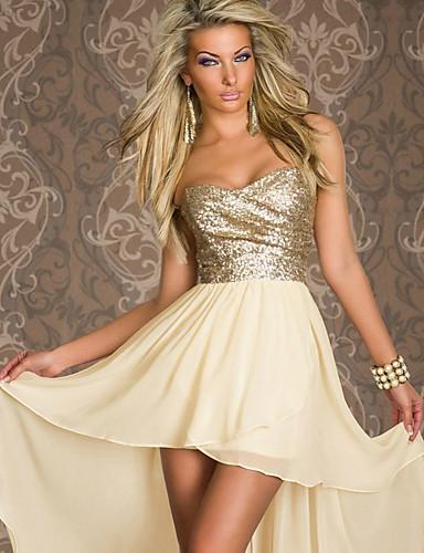 preiswerte Damen Kleider-Damen Grundlegend Anspruchsvoll Hülle Kleid - Patchwork, Einfarbig Übers Knie