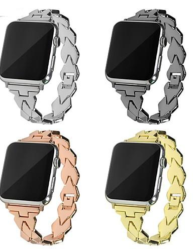צפו בנד ל Apple Watch Series 4/3/2/1 Apple אבזם מודרני מתכת רצועת יד לספורט