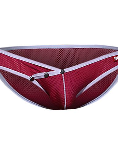 voordelige Herenondergoed & Zwemkleding-Netstof Slip Heren 1 Stuk Lage Taille