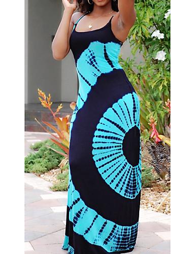 levne Maxi šaty-Dámské Základní Šik ven Bodycon Pouzdro Šaty - Geometrický Etno, Tisk Midi