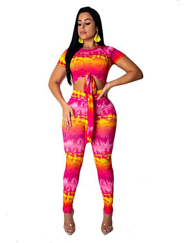 מכנס טלאים / דפוס, אחיד - סט בסיסי / בוהו בגדי ריקוד נשים