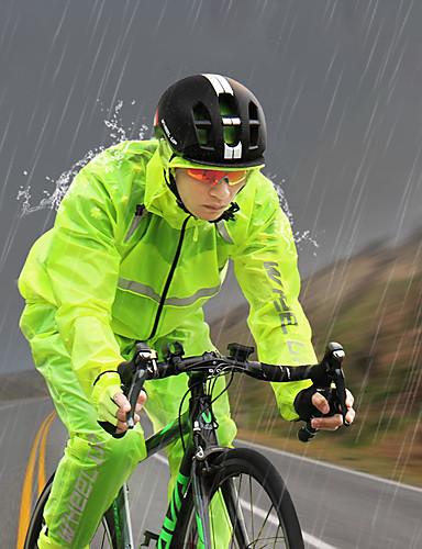 povoljno Odjeća za vožnju biciklom-Wheel up Muškarci Dugih rukava Biciklistička jakna s hlačama Crno bijela  / Zelena  / Žuta Jedna barva Bicikl Sportska odijela Vodootporno Vjetronepropusnost Quick dry Reflektirajuće trake Sportski