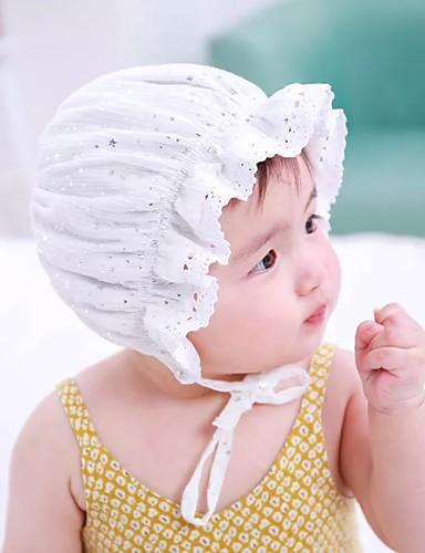 מידה אחת לבן / חאקי כובעים ומצחיות כותנה / תחרה תחרה / פאייטים / מסוגנן אחיד וינטאג' / פעיל / בסיסי בנות פעוטות / עולל / תינוק