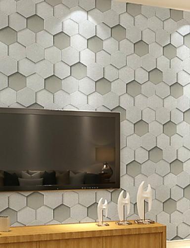 preiswerte Tapete-Tapete Nicht gewebt Wandverkleidung - Klebstoff erforderlich Geometrisch / 3D