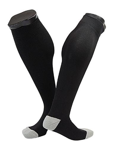ราคาถูก Sport Socks-ถุงเท้าสำหรับวิ่ง ถุงเท้าฟุตบอล Hiking Socks ถุงเท้าการบีบอัด ถุงเท้ายาว 1 คู่ Warm ลดการถลอก สบาย Sweat-wicking ลายต่อ Polester / Cotton Blend ฤดูใบไม้ร่วง สำหรับ สำหรับผู้ชาย สำหรับผู้หญิง