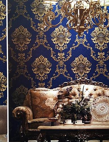 preiswerte Tapete-Tapete Nicht gewebt Wandverkleidung - Klebstoff erforderlich Blumen