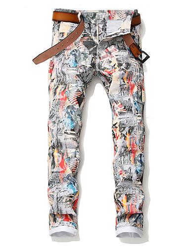 בגדי ריקוד גברים פאנק & גותיות צ'ינו מכנסיים - מעוטר כותנה קשת 34 36 38
