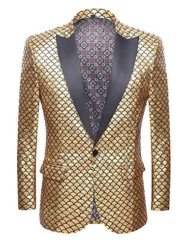 סגול / צהוב / אדום אחיד גזרה רגילה פוליאסטר חליפה - סגור Single Breasted One-button