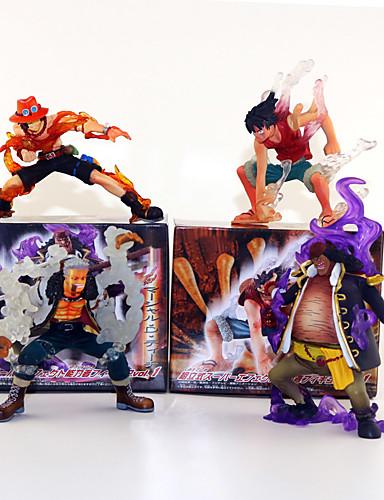 povoljno Maske i kostimi-Anime Akcijske figure Inspirirana One Piece Kec Monkey D. Luffy PVC 13 cm CM Model Igračke Doll igračkama