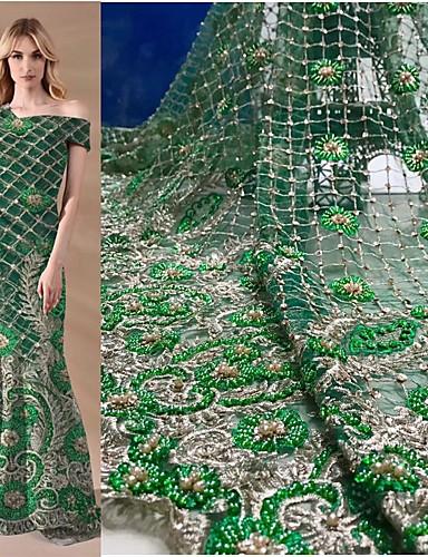 preiswerte Fashion Fabric-Afrikanische Spitze Volksstil Muster 120-135 cm Breite Stoff für Besondere Anlässe verkauft bis zum 5 Yard