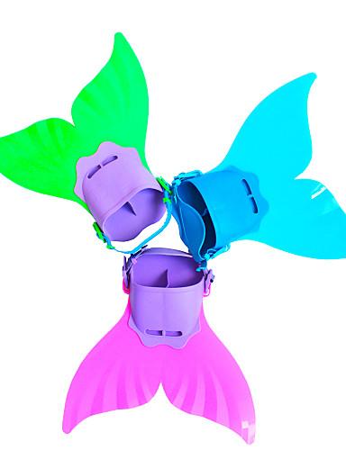 povoljno ljetni popust-Ronjenje Peraje Swim Fins Sirena Prilagodljivo Kratke peraje Plivanje Ronjenje TPR PP - za Djeca Fuksija Zelen Svjetloplav