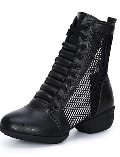 billige Shoes & Bags Must-have-Dame Dansesko Fuskelær Dansestøvler Joggesko Tykk hæl Kan spesialtilpasses Hvit / Svart / Rød / Ytelse / Trening