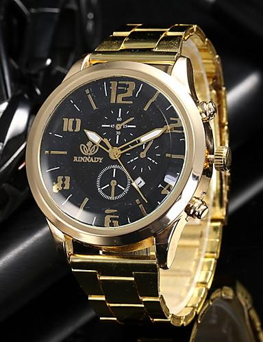 Homens Relógio Elegante Quartzo Relógio Casual Analógico Casual - Preto Dourado