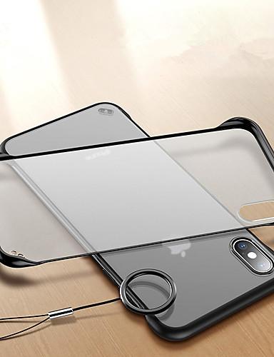 Etui Til Apple iPhone XS / iPhone XR / iPhone XS Max Støtsikker / Ringholder / Ultratynn Bakdeksel Gjennomsiktig Hard Akryl / PC