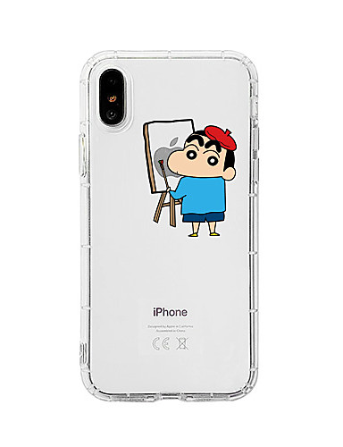 Capinha Para Apple iPhone XS / iPhone XR / iPhone XS Max Antichoque / Anti-poeira / Transparente Capa traseira Transparente / Desenho Animado TPU
