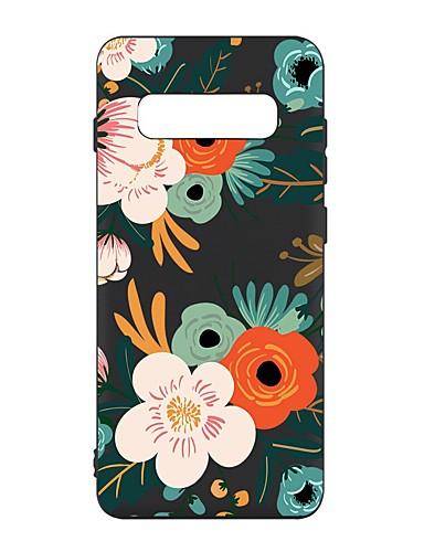 Capinha Para Samsung Galaxy S9 / S9 Plus / S8 Plus Antichoque / Áspero / Estampada Capa traseira Flor TPU