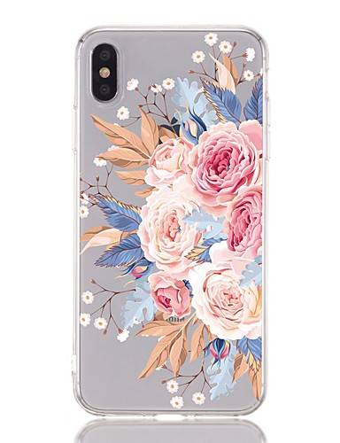 Caso para apple iphone 8 plus / iphone 6 s além de à prova de choque / transparente / padrão tampa traseira flor macia tpu para iphone xs / xr / xs max / x / 5 / 5s / se / 6/7 mais / 8