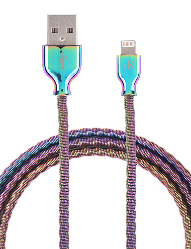 d8 mfi lynledning mikro usb / lynledning 1m (3ft) rustfritt metallladning kabel datakabel hurtigladningskabel for iphone / ipad / ipod