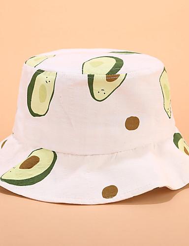Barn / Baby Gutt / Jente Vintage / Aktiv / Grunnleggende Ensfarget / Frukt Elegant Bomull Luer & Kaps Hvit / Gul / Navyblå S / XL / Søt / Sofistikert
