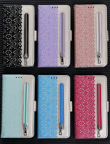 Capinha Para Huawei Honra 10 Lite / Huawei Honor 8A / Huawei Y7 2019 Carteira / Porta-Cartão / Com Suporte Capa Proteção Completa Flor PU Leather