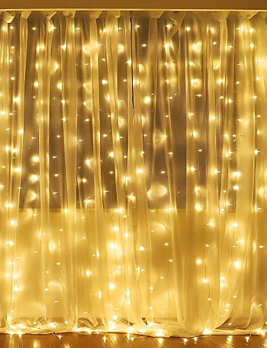 cheap 11.11 - LED String Lights Best Sale-3Mx2M 240LED White/Warm White/Multicolor Light Romantic Christmas Wedding Outdoor Decoration Curtain String Light