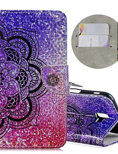Capinha Para Samsung Galaxy J6 (2018) / J4 (2018) / Galaxy J4 Plus(2018) Carteira / Porta-Cartão / Antichoque Capa Proteção Completa Glitter Brilhante / Flor Rígida PU Leather