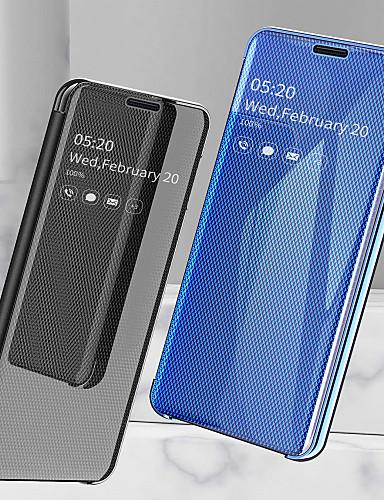 tok Για Samsung Galaxy Galaxy A7(2018) / Galaxy A30 (2019) / Galaxy A50 (2019) Ανθεκτική σε πτώσεις / Επιμεταλλωμένη / Καθρέφτης Πλήρης Θήκη Μονόχρωμο Σκληρή PU δέρμα