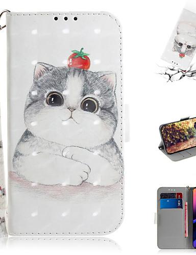 Capinha Para Apple iPhone XS / iPhone XR / iPhone XS Max Carteira / Porta-Cartão / Com Suporte Capa Proteção Completa Animal / Desenhos 3D PU Leather