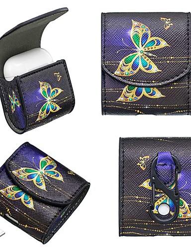 θήκη για airpods shockproof / dustproof ακουστικό περίπτωση μαλακό μοτίβο πεταλούδα