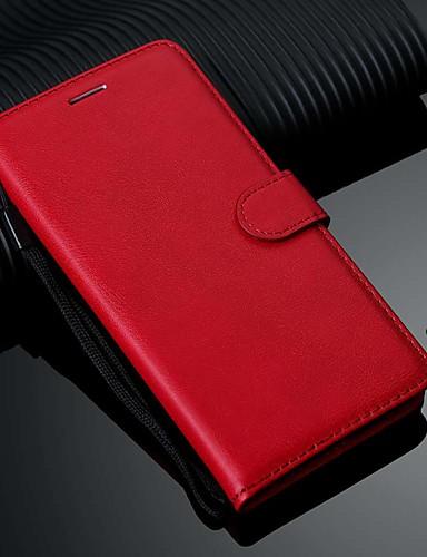 Capinha Para Samsung Galaxy S9 / S9 Plus / Galaxy S10 Carteira / Porta-Cartão / Com Suporte Capa Proteção Completa Sólido PU Leather