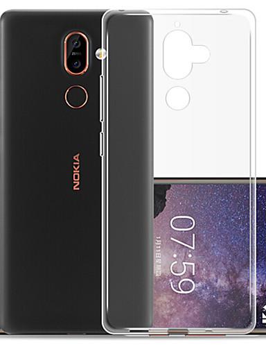 tok Για Nokia Nokia 7 Plus / Nokia 7.1 Προστασία από τη σκόνη Πίσω Κάλυμμα Μονόχρωμο Μαλακή TPU