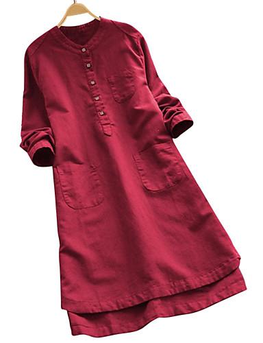 billige Skjorter til damer-tunika Dame - Ensfarget Vin