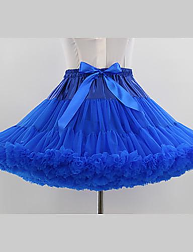 povoljno Maske i kostimi-Balet Classic Lolita 1950-te Haljine Petticoat kratka baletska suknja Krinolina Žene Djevojčice Til Kostim Crn / Obala / Blushing Pink Vintage Cosplay Party Seksi blagdanski kostimi Princeza