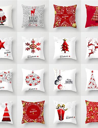povoljno Božićni tekstil-1 kom Polyester Navlaka za jastuk, Božić Božić Baci jastuk