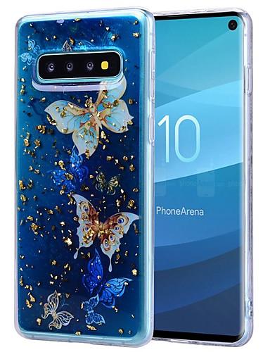 Etui Til Samsung Galaxy S9 / S9 Plus / Galaxy S10 Støtsikker / Gjennomsiktig / Mønster Bakdeksel Sommerfugl Myk TPU