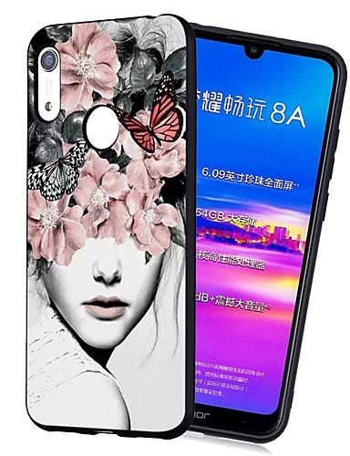 Capinha Para Huawei Huawei Nova 3i / Y7 Prime (2018) / Huawei Y7 2019 Antichoque / Áspero / Estampada Capa traseira Mulher Sensual TPU