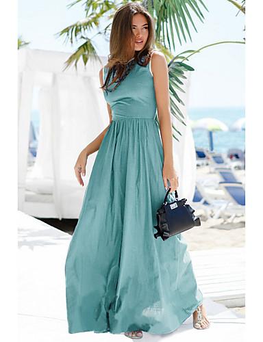 levne Maxi šaty-Dámské Cikánský Elegantní Abaya Šaty - Jednobarevné, Patchwork Maxi