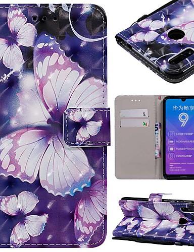 Etui Til Huawei Huawei Nova 3i / Mate 10 / Mate 10 pro Lommebok / Kortholder / Støtsikker Heldekkende etui Sommerfugl Hard PU Leather