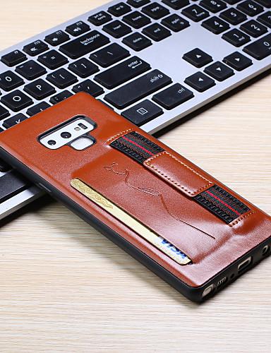 Capinha Para Samsung Galaxy Note 9 Porta-Cartão Capa traseira Sólido PU Leather