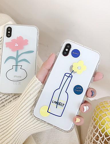 Capinha Para Apple iPhone XS / iPhone XR / iPhone XS Max Ultra-Fina / Transparente Capa traseira Transparente / Desenho Animado TPU